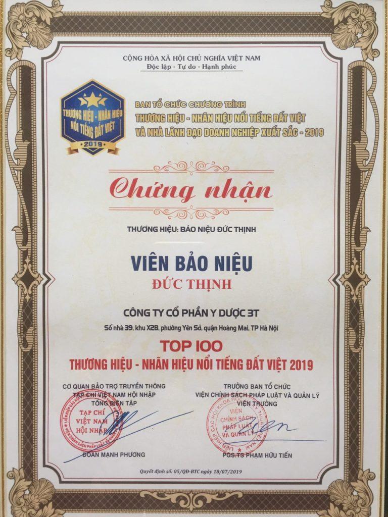 top 100 nhan hieu thuong hieu noi tieng dat viet 1 768x1024 - Ưu điểm vượt trội chỉ có ở Bảo Niệu Đức Thịnh