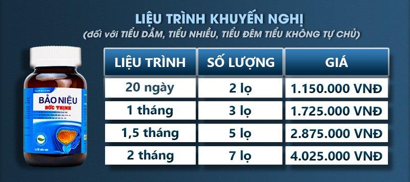 lieu trinh bao nieu duc thinh tieu dem tieu nhieu tieu khong tu chu - Thông tin về sản phẩm Bảo Niệu Đức Thịnh