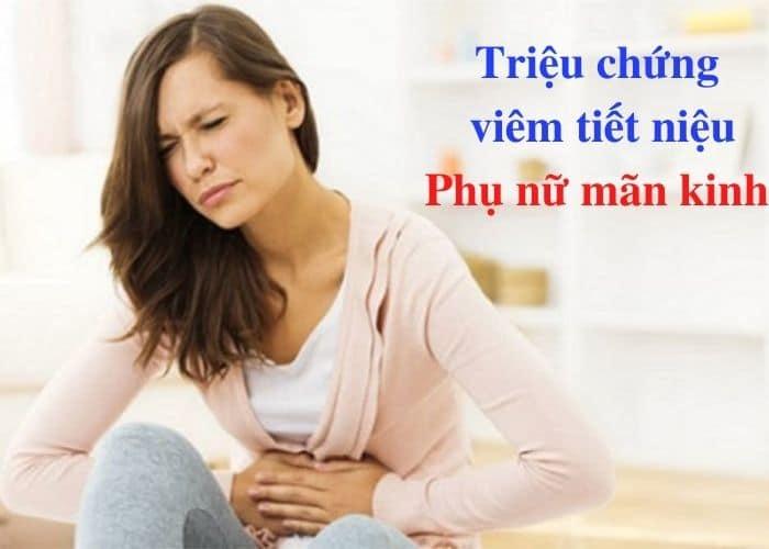trieeu chung viem tiet nieu phu nu man kinh - Giải pháp nào cho viêm đường tiết niệu ở phụ nữ mãn kinh ?