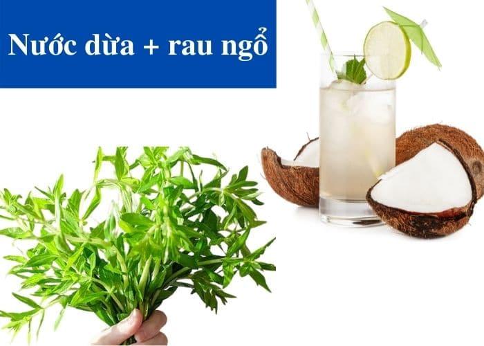 6.cach dung nuoc dua rau ngo chua viem tiet nieu - [ GÓC HỎI - ĐÁP] Chữa viêm đường tiết niệu bằng nước dừa có hiệu quả không?
