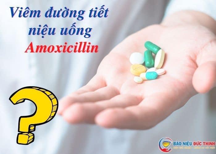 viem tiet nieu uong amoxicillin - [ HỎI - ĐÁP] Viêm đường tiết niệu uống amoxicilin có được không?