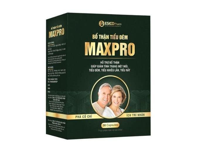 thuoc bo than tieu dem maxpro - Top 5+ Thuốc bổ thận giảm tiểu đêm tốt nhất trên thị trường hiện nay